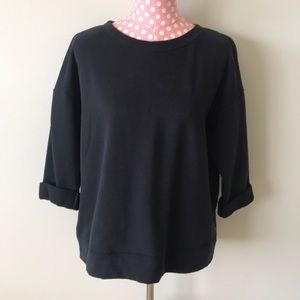 Kensie Jeans Open Back Sweatshirt